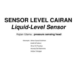 SENSOR LEVEL CAIRAN Liquid-Level Sensor