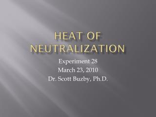 Heat of Neutralization