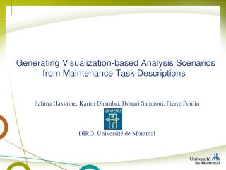 Generating Visualization-based Analysis Scenarios from Maintenance Task Descriptions