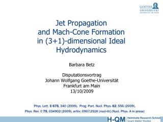 Jet Propagation and Mach-Cone Formation in (3+1)-dimensional Ideal Hydrodynamics