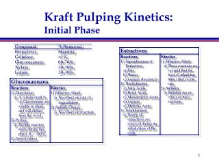 Kraft Pulping Kinetics: Initial Phase