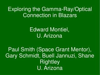 Exploring the Gamma-Ray/Optical Connection in Blazars