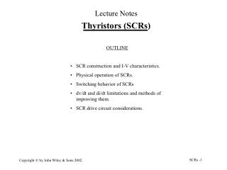 Thyristors (SCRs)