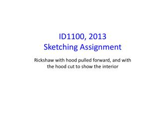 ID1100, 2013 Sketching Assignment