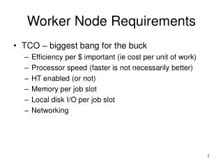 Worker Node Requirements
