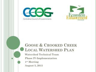 Goose & Crooked Creek Local Watershed Plan