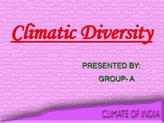Climatic Diversity