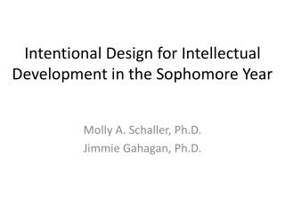 Intentional Design for Intellectual Development in the Sophomore Year