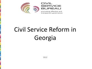 Civil Service Reform in Georgia