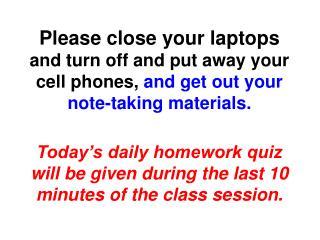 Please close your laptops