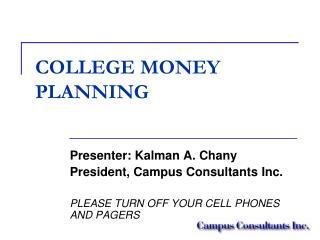 COLLEGE MONEY PLANNING