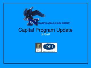 Capital Program Update 3-13-07