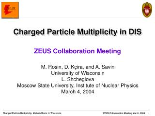 Charged Particle Multiplicity in DIS