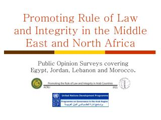 Promoting Rule of Law and Integrity in the Middle East and North Africa
