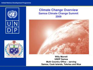 Climate Change Overview Samoa Climate Change Summit  2009
