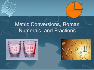 Metric Conversions, Roman Numerals, and Fractions