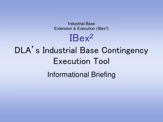 Informational Briefing