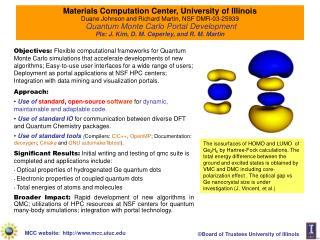Materials Computation Center, University of Illinois