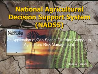 National Agricultural Decision Support System (NADSS)