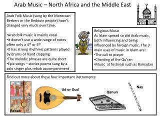 Arab Music � North Africa and the Middle East