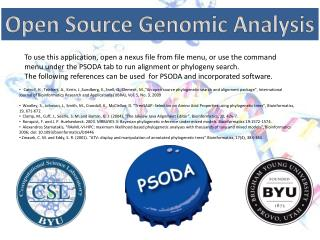 Open Source Genomic Analysis