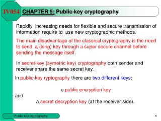 CHAPTER 5: Public-key cryptography
