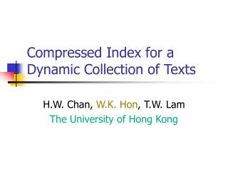 Compressed Index for a Dynamic Collection of Texts