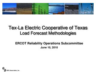 Tex-La Electric Cooperative of Texas Load Forecast Methodologies