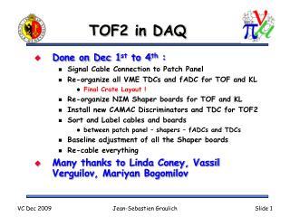 TOF2 in DAQ
