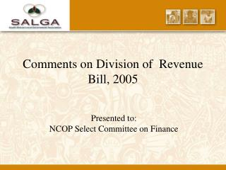Comments on Division of  Revenue Bill, 2005