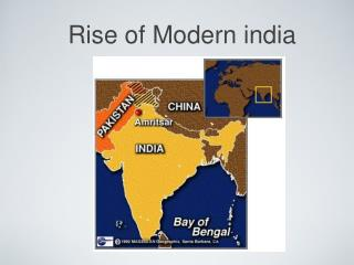 Rise of Modern india