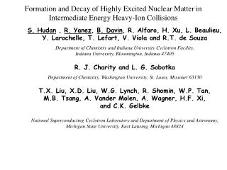 Formation and Decay of Highly Excited Nuclear Matter in Intermediate Energy Heavy-Ion Collisions