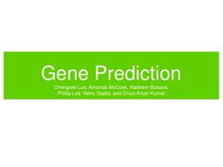 Gene Prediction