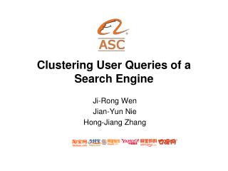 Clustering User Queries of a Search Engine