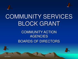 COMMUNITY SERVICES BLOCK GRANT