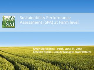Sustainability Performance Assessment (SPA) at Farm level