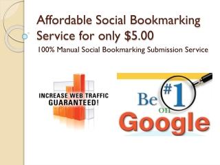 Affordable Social Bookmarking Service | Manual Bookmarking