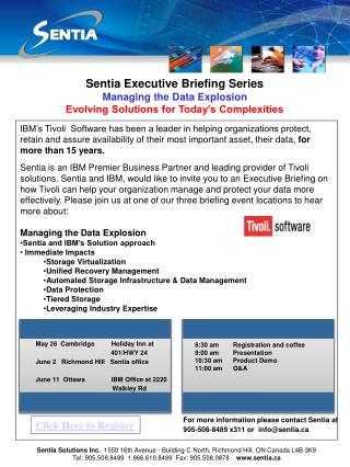 Sentia Executive Briefing Series