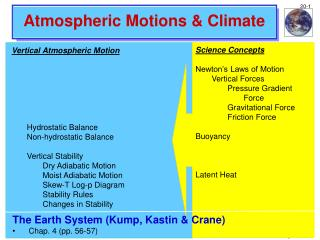Atmospheric Motions & Climate