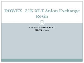 DOWEX   21 K XLT Anion Exchange Resin