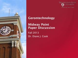 Gerontechnology Midway Point Paper Discussion