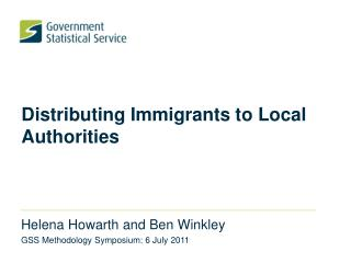 Distributing Immigrants to Local Authorities