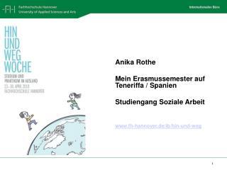 Anika Rothe Mein Erasmussemester auf Teneriffa / Spanien Studiengang Soziale Arbeit