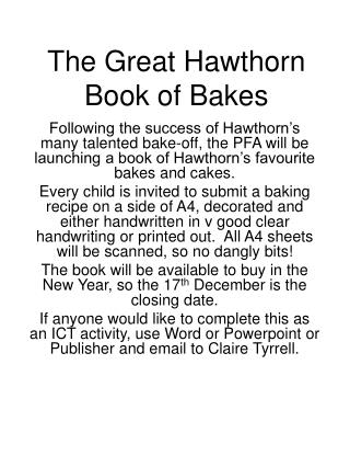 The Great Hawthorn Book of Bakes