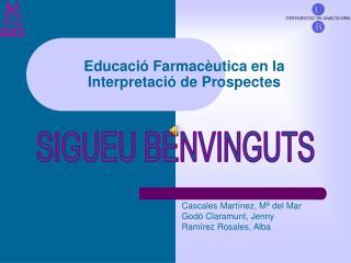 Educació Farmacèutica en la Interpretació de Prospectes