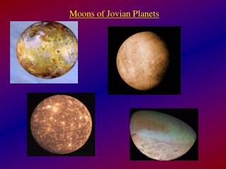 Moons of Jovian Planets