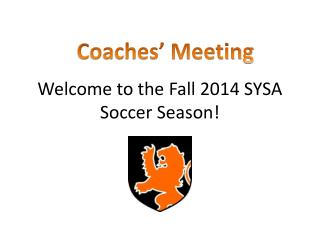 Welcome to the Fall 2014 SYSA Soccer Season!