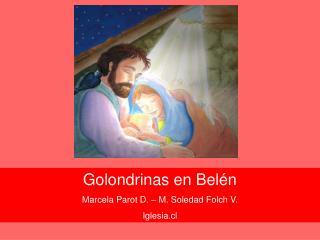 Golondrinas en Belén Marcela Parot D. – M. Soledad Folch V. Iglesia.cl