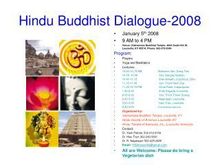 Hindu Buddhist Dialogue-2008