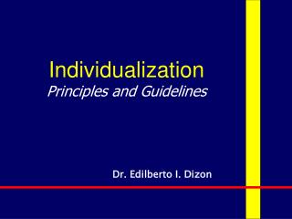 Individualization Principles and Guidelines